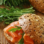 Wholegrain Roll with Smoked Salmon