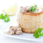 Ragout Fin in Pastetenform / ragout fin in puff pastry